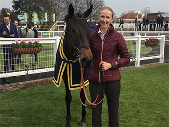 Lavender's Blue wins on her racecourse debut at Newmarket - Tuesday 16th April